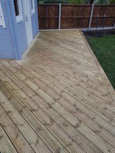 Decking in Back Garden